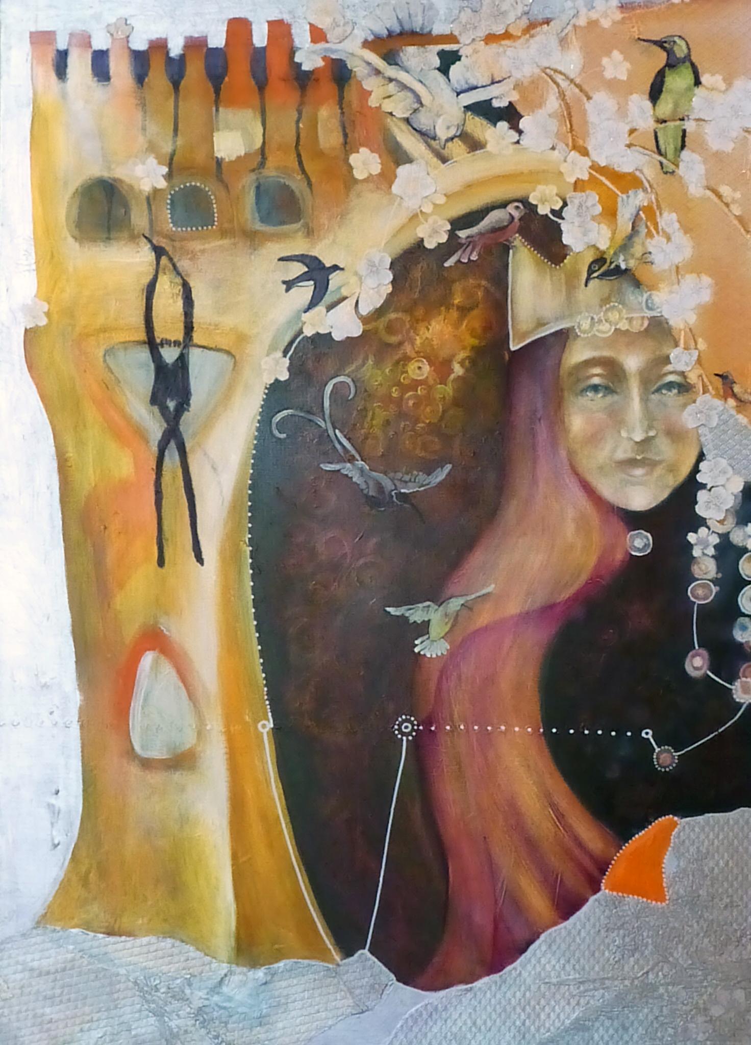 """Königin"", Acryl auf Leinwand, 70x100cm, 2011"