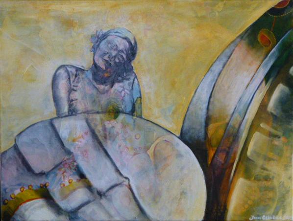 """Wanderin"", Acryl auf Leinwand, 60x80cm, 2009"