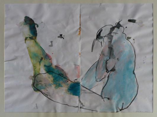 """""""Akt"""", Tusche auf Papier, 45x60cm, 2006"""