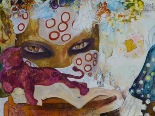"""El Shona"", Acryl auf Leinwand, 100x130cm, 2009"