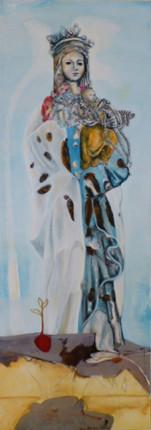 """Madonna"", Acryl auf Leinwand, 180x60cm, 2011"