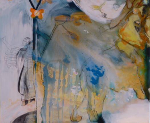 """Lion"", Acryl auf Leinwand, 100x120cm, 2009"