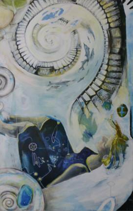 """""""Stairway"""", Acryl auf Leinwand, 160x100cm, 2009"""