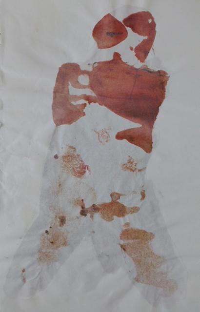 """""""Akt"""", Tusche auf Papier, 60x30cm, 2006"""