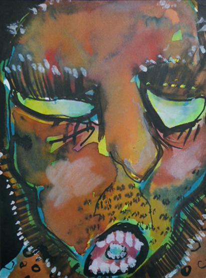 """""""Portrait2"""", Tusche auf Papier, DinA4, 2008"""