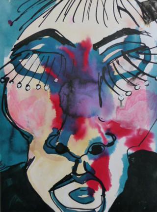 """""""Portrait1"""", Tusche auf Papier, DinA4, 2008"""