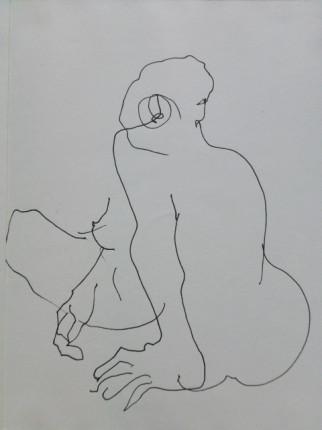 """""""Akt"""", Fineliner auf Papier, DinA4, 2008"""