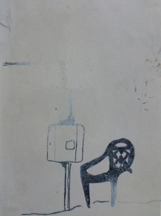 """o.T."", Fineliner auf Papier, DinA5, 2009"