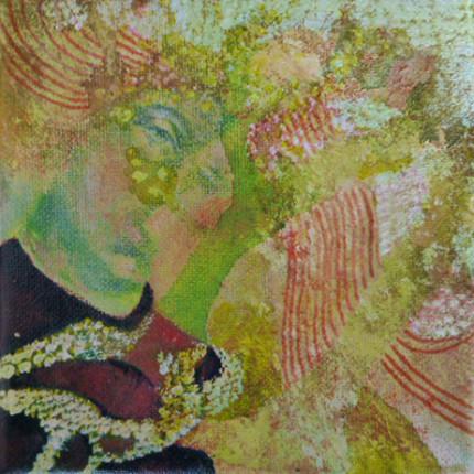 """Kuss"", Acryl auf Leinwand, 15x15cm, 2013"