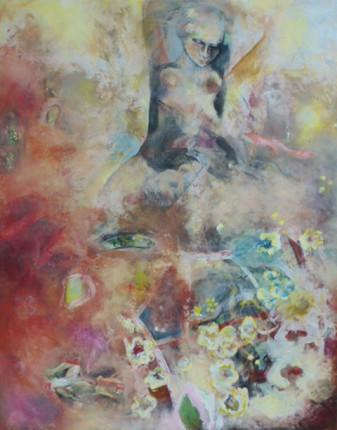 """o.T."", Acryl auf Leinwand, 100x80cm, 2013"